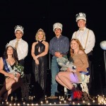ECHOES WAS AN OUTDOOR AFFAIR this year due to Covid restrictions. Queen Gabrielle Porter, King Seth Huffman, 2020 Queen Kiersten Grobe, 2020 King Aidan Comer, Princess Karlie Jones and Prince Dakota Steinhoff made up the royal court.