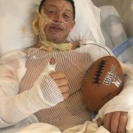RECOVERING FROM MAJOR WOUNDS after catching fire from static electricity, well known Warsaw resident J.D. Wilson is recovering in the hospital.