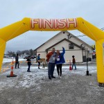 A FROSTY FINISH was a good description of the Lincoln 5K held this past Saturday and hosted by the Truman Lake Adventure Club.  Runners, including Ken and Cathy Beyer, enjoyed a new route throughout Lincoln made possible by the city's participation in the MPAN Grant process.  The Beyer's, owners of Sterett Creek Marina, are also sponsors of the TLAC.