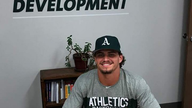 WARSAW'S OWN JEREMY EIERMAN, after three good years with Missouri State, is now a member of the Oakland A's. He signed a contract on Thursday night after being drafted in the second round with the 70th pick of the draft