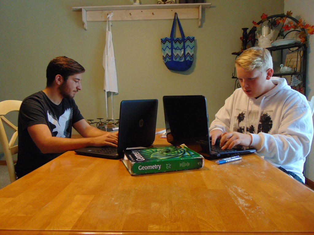 "AS SCHOOL DISTRICT BUDGETS TIGHTEN around the country, the four day school week is becoming more common. Warsaw R-IX students now only attend school Tuesday through Friday. WHS sophomores Joe Montez and Logan Strunk occasionally use Monday to study together. Strunk told the Enterprise, ""A good part of having a four day school week is having more time to study and be with my family and friends."""