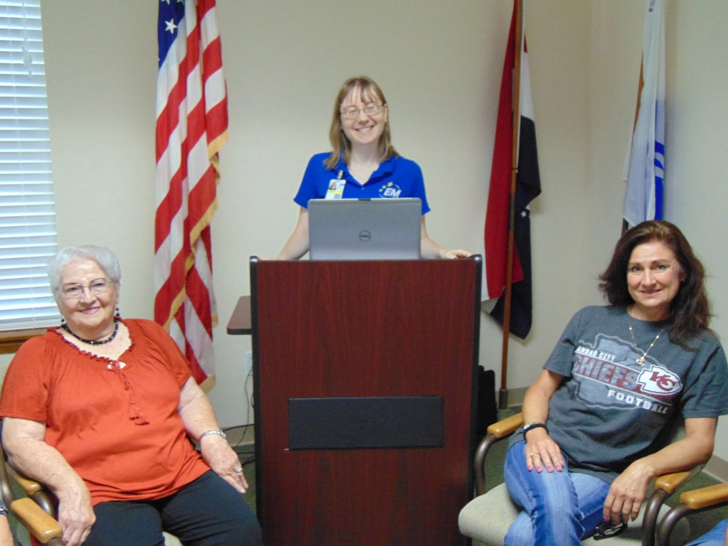 A QUESTION AND ANSWER segment was part of the program during Benton County's Community Emergency Response Team open house. Helping conduct the event were Martha Foster, Samantha Henley and Christy Barber.
