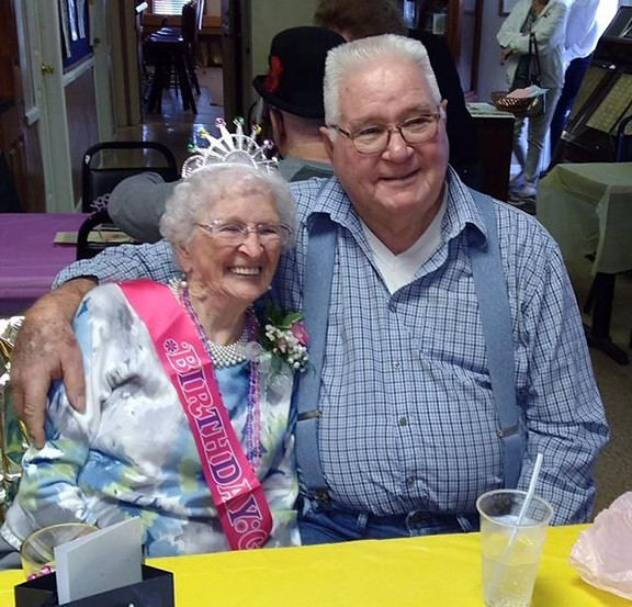 CELEBRATING A CENTURY, Dorothy Hinds joined longtime boyfriend Gordon Smith along with family and friends at the Elks Lodge to mark the occasion.