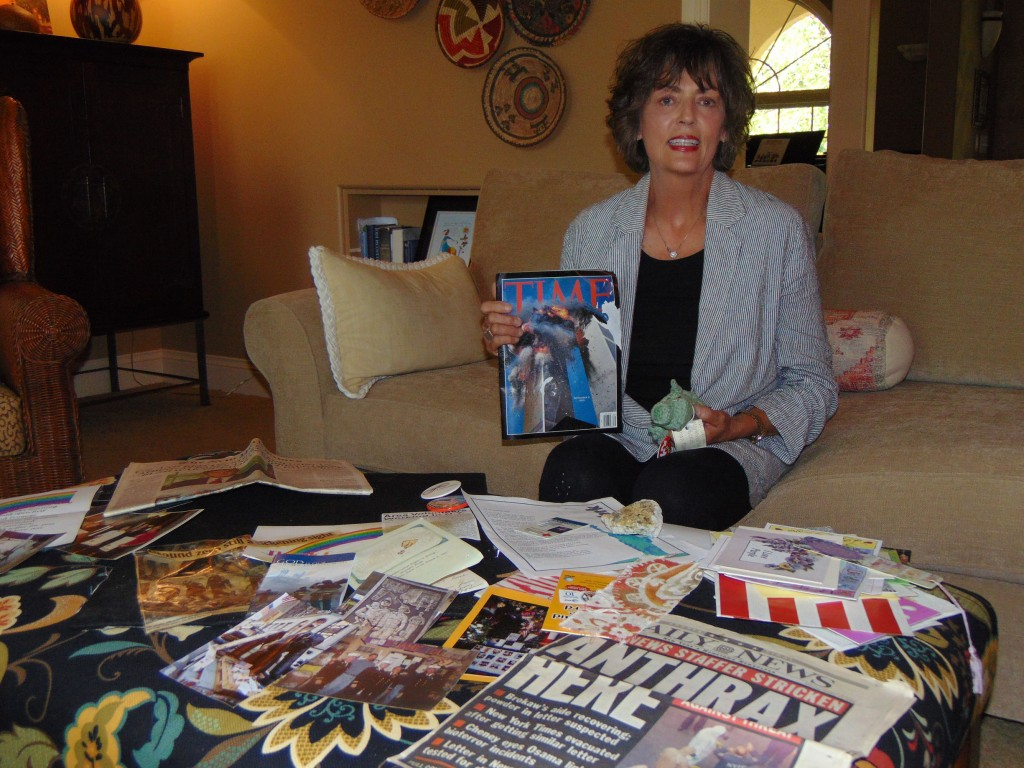 DEVASTATION AND DESTRUCTION greeted Warsaw resident Leslie Hill eighteen years ago when she volunteered to help in Manhattan following the 9/11 attacks. Hill treasures several mementos from her time there, including a stuffed alligator and a Time magazine depicting the horrific attack.