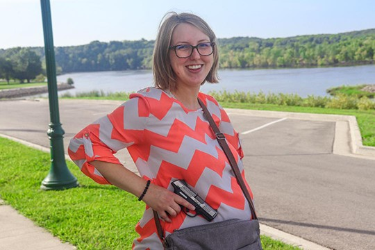 CONCEAL AND CARRY PERMITS are on the rise in the wake of multiple mass shootings across the country. Warsaw resident Amanda Montemayor says having a permit gives her a sense of security.  Benton County Sheriff Eric Knox has advised folks to take part in protecting themselves.