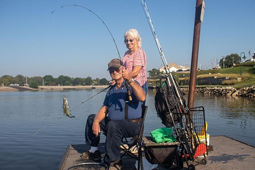 SO LONG SWEET SUMMER, Wayne and Judy Moore spent Labor Day fishing at Drake Harbor. The area was jam packed over the long holiday weekend with many businesses seeing a brisk business.