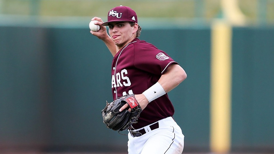 JEREMY EIERMAN, FORMER WHS STANDOUT prospect and presently the Missouri State star shortstop has been drafted in the MLB draft by the Oakland A' s with the 70th overall pick.