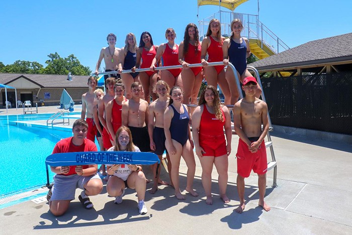 THE CITY OF WARSAW opened its Lay Park swimming pool on Wednesday with guidelines to help keep swimmers safe from Covid-19. This years staff include back row: Ryan Sprouse, Madie Gardner, Ariuanna Johnson-Childers, Rheanna Coke, Bella Morrison, Aubrie McRoberts, and Kiersten Grobe. Middle row: Brady Slavens, Andrea Merritt, James Kellner, Ally Wenberg, Josh Galloway, Evan Kowal, Gabby Porter, Taylor Spry and Lucas Kaneko. Front row: Dustin Roark and Taylor Bunch.