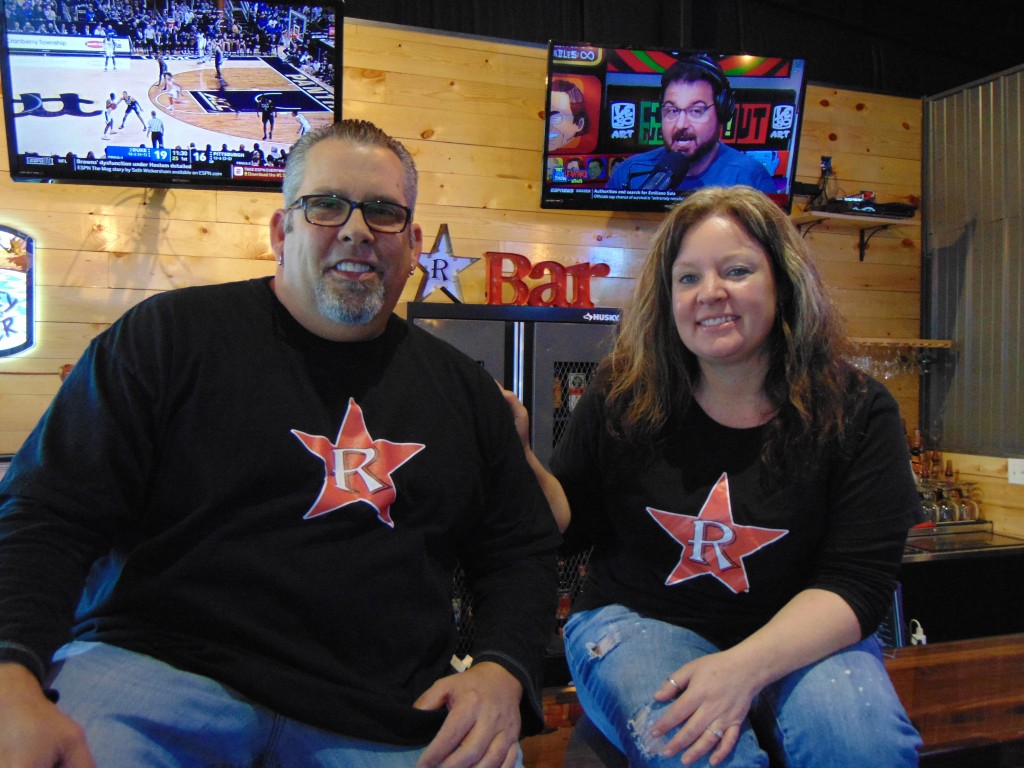 A NEW LOCATION AND A NEW LOOK, R-Bar proprietors Kevin Lapittus and Stacey Taylor remodeled a 1950's era gas station into their new restaurant and bar.