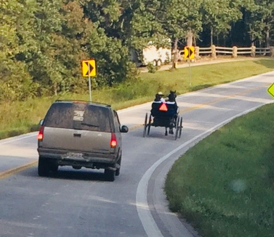URBAN SPRAWL in some states is among reasons that many Amish families have relocated to Edwards, where road traffic is much more conducive to horse and buggy.