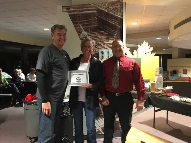 THE ANNUAL State of The Chamber Program took place on Thursday evening. Chamber President Dr. Leo Porter gave Ken and Kathy Beyer a special recognition certificate.