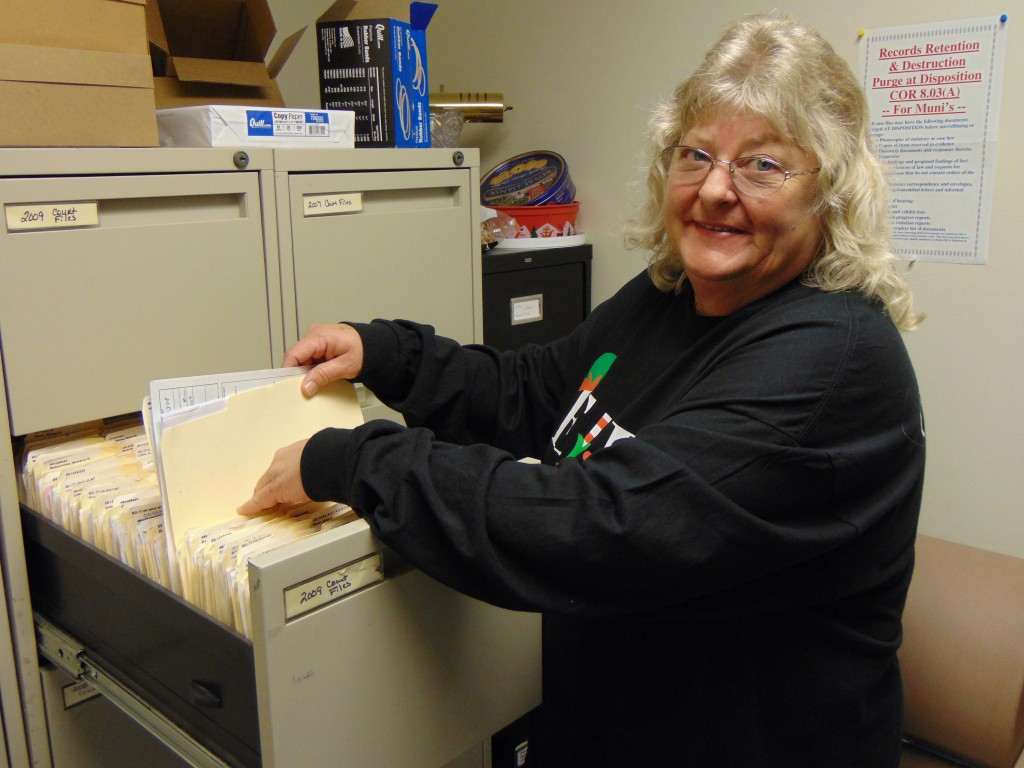 AN INSIDE LOOK at what it takes to run the City of Warsaw was granted to the Enterprise. Municipal Court Administrator Kathy King is part of a cadre of employees who keep Warsaw moving forward. King has worked at the Community Building (City Hall) since 1993.