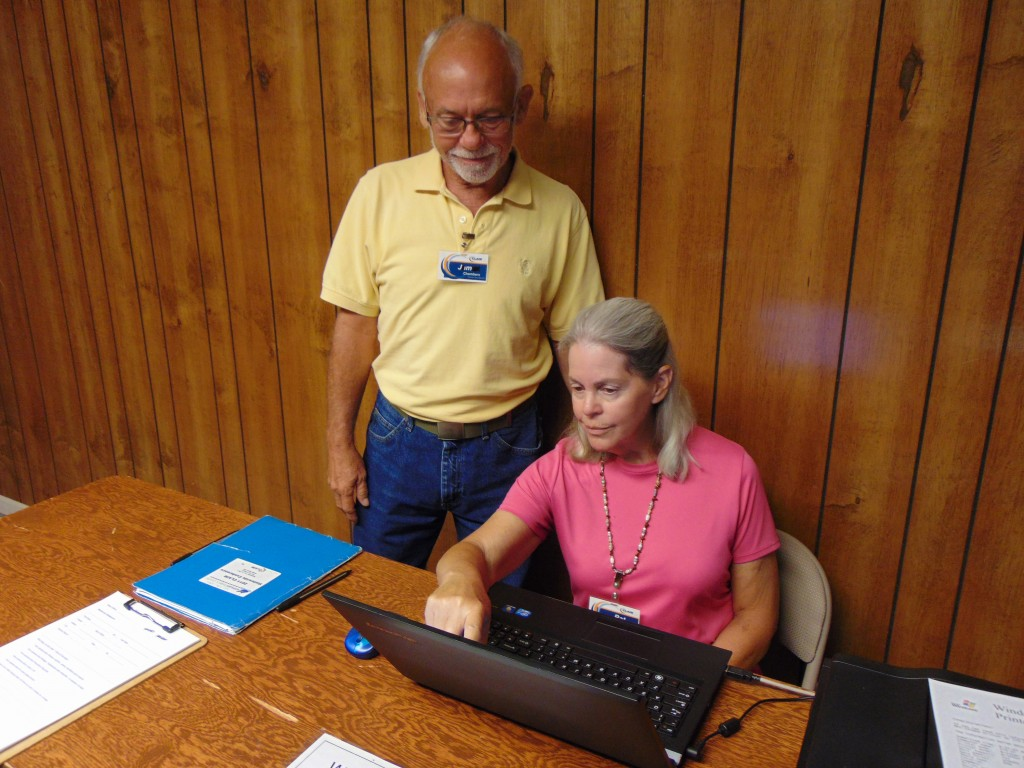 VOLUNTEER VITALITY, Jim and Pat Chambers spend each Thursday at the Methodist Church in Warsaw where they donate their time as Missouri State Certified Medicare Counselors. The couple moved to Warsaw seven years ago.