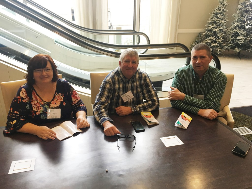 READY TO HIT THE GROUND RUNNING, newly elected Benton County officials Carla Brown, Steve Daleske and David Brodersen attended a seminar in Osage Beach to help prepare them for governing in 2019. The three day event wrapped up on Monday.