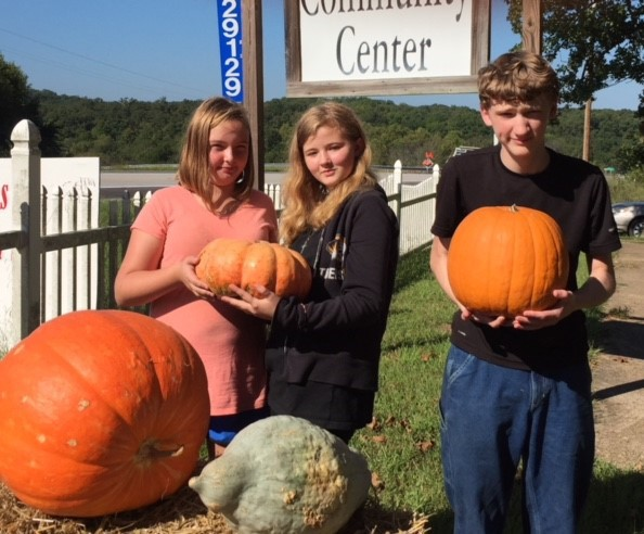 SOMETHING FOR EVERYONE, the Edwards Fall Festival featured a host of vendors including a pumpkin patch booth with Jade Permalee, Bobbie Baumly and James Baumly.