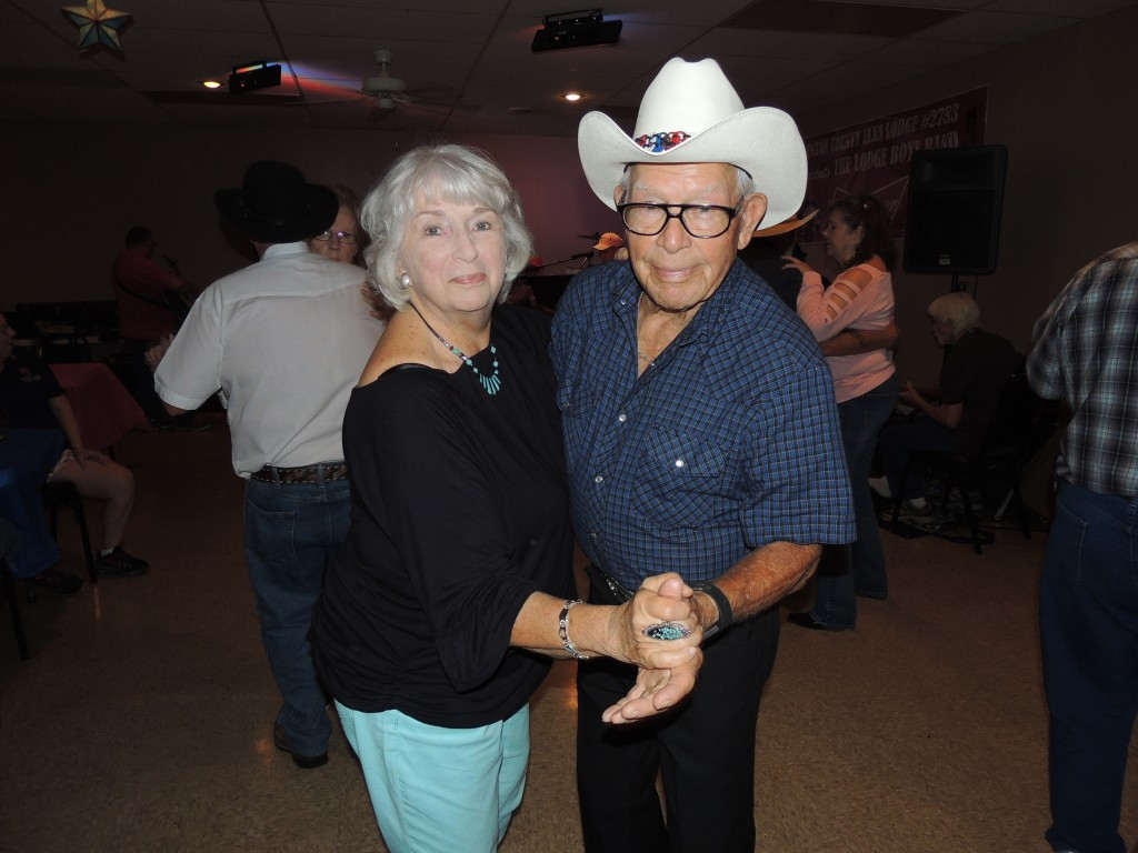 DANCING DIVINLEY at the Warsaw Elks Club, Katie Richardson and Dean Constance attended Saturday's open house marking the organizations 150 years.