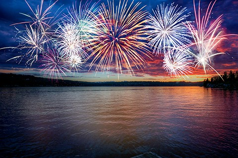 TRUMAN DAM WILL SET THE STAGE for a magnificent pyrotechnic display this Saturday at dusk. The annual event is sponsored by the Warsaw Area Chamber of Commerce and the US Army Corps of Engineers. See story below for a list of area 4th of July celebrations.