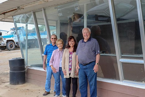 A BIT OF OUR HISTORY will soon disappear when the former Dari-Kup building comes down after suffering recent water damage. Joe Dale and Roberta Hedrick, Kathy Arnett and Dari-Kup founder Paul Shinn met for one last look. The Hedrick's operated the establishment for several years and Arnett spent 20 years at the famed eatery.