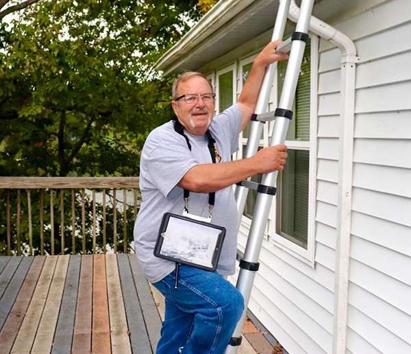 A SURGE IN DEMAND for property in the Twin-Lakes area has kept real estate agents and home inspectors busy. Rick Wade inspected a Warsaw home that recently came on the market.