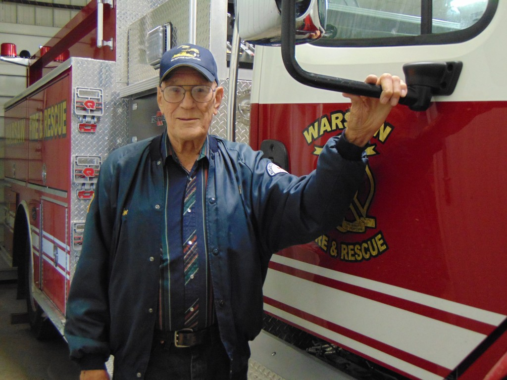 STILL GOING STRONG AT 86, Warsaw Volunteer Fireman Jim Summers has served the Warsaw Fire Protection District for many decades.