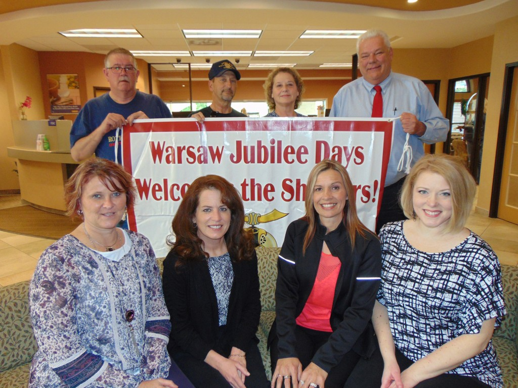 "PLANNING A SPECTACULAR CELEBRATION, the Warsaw Jubilee Days Committee announced that Hillbilly Bob featuring his 1929 Model A ""Old Ruthie"" will entertain folks during this year's event. This year's Jubilee Days Committee includes front left to right Jessi Kendall, Elaine Selle, Heather Love and Crystal Bates. Back row left to right James Pudder, Mike Carr, Kathy Carr and Chuck Allcorn."
