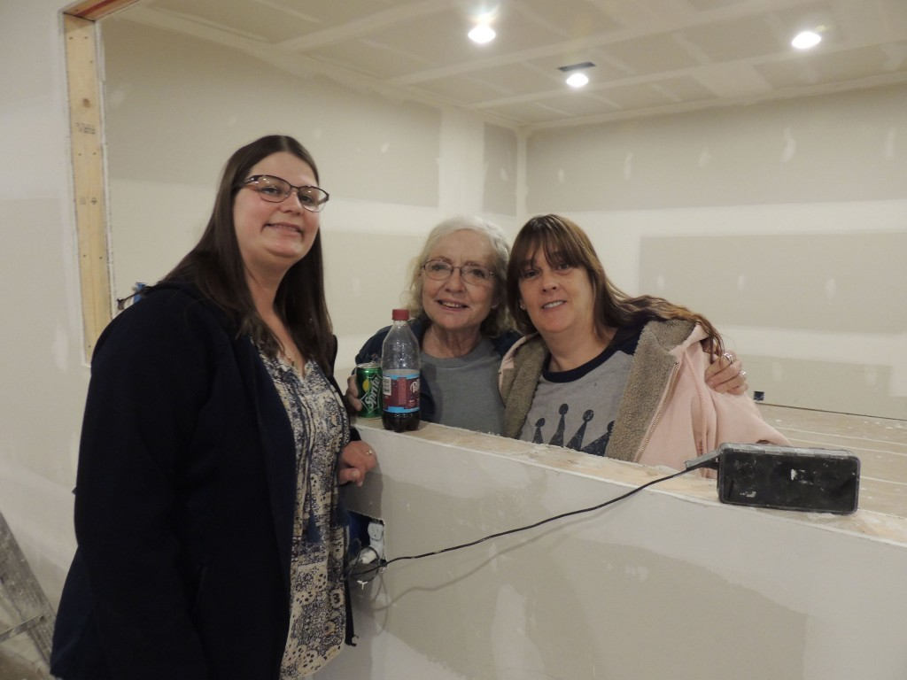 A SUPER NEW American Legion headquarters is nearing completion in Warsaw following last year's devastating fire. Members including Ruth Jackson, Linda Pierce and Liz Rodapaugh recently toured the building for a sneak peak at its progress.