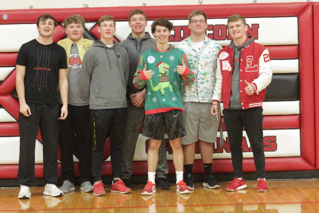 THE BEST OF THE BEST. Lincoln capped off their 2019 second place finish in state with eight players capturing All-State honors. Pictured left to right are senior Nate Hesse, senior Hayden Beaman, senior Bo Kroenke, senior Jackson Beaman,senior Joe Bittner, junior Gabe Mehrens and senior Parker Engles. Not pictured is senior Tanner Bays. Congratulations!