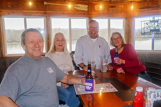 FOLLOWING EXTENSIVE RENOVATIONS, the Old Oar House re-opened under the ownership of Rick Renno. The well known restaurateur greeted patrons Tom Eaves, Theresa McMillin and Patty Smith on Monday.