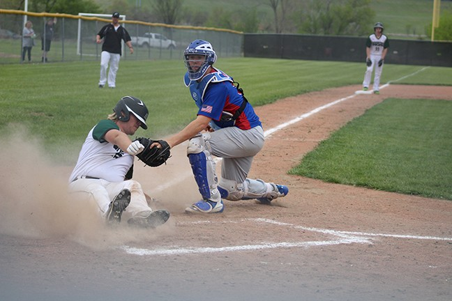 TOMMY ROBITSCH SCORED from third on a sacrifice fly. The Wildcats battled but lost to California 11-6 on Monday evening at West Blessed Ferry Sports complex.