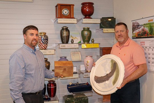 "THE U.S. IS BECOMING A CREMATION NATION as a larger number of people are opting to for cremation instead of traditional burial. Weston Miller and Paul Eason at Reser Funeral Home in Warsaw said the firm is carrying a larger selection of urns, including a biodegradable ""disc"" model that can be placed on the river or lake."