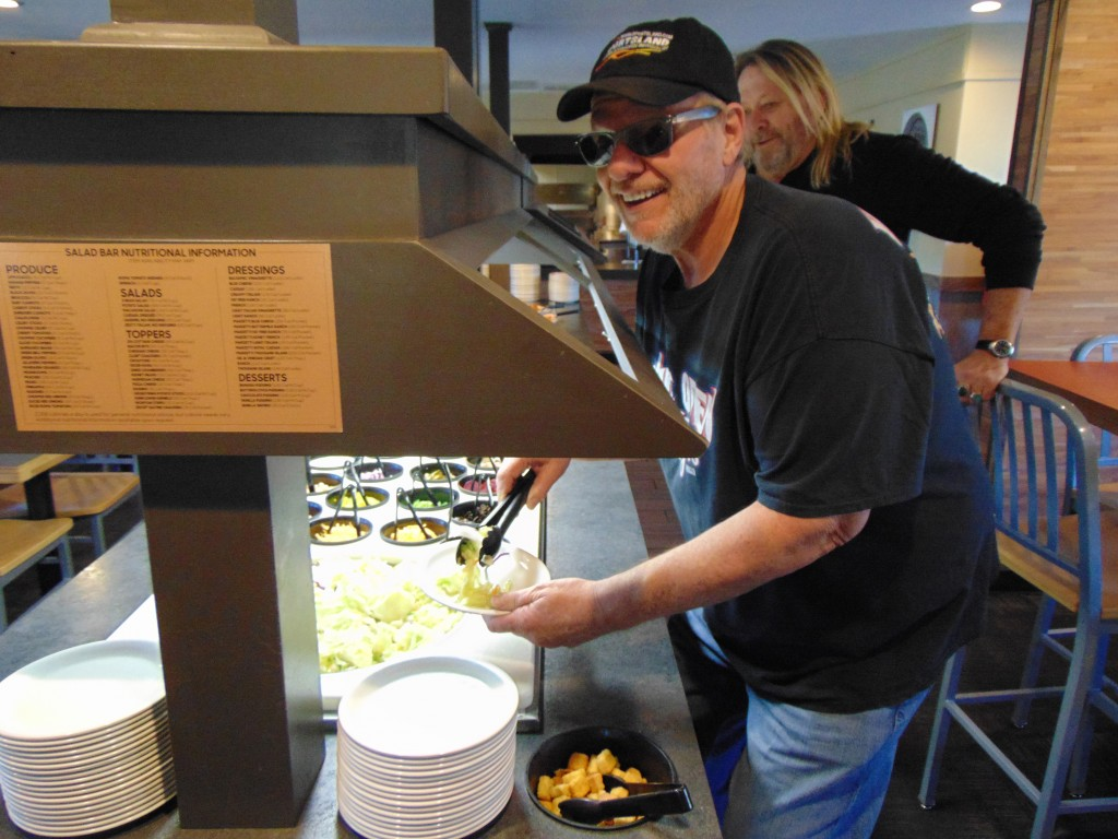 RESOLVING TO EAT HEALTHIER is the top resolution for 2019. Area eateries have seen a huge increase in sales of salads. Making good on his pledge to eat healthier this year, Mike Roades fixed a salad for lunch at a Warsaw restaurant.