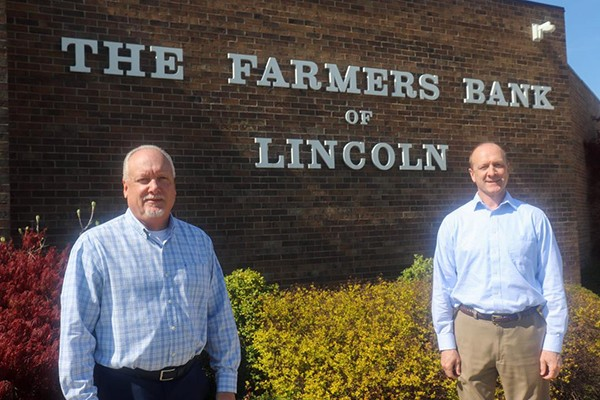 A MAINSTAY IN BENTON COUNTY, Farmer's Bank of Lincoln will soon be under new ownership. President Stephen Kroenke and Executive Vice President Dwight Kroenke, who's family has owned the operation since 2000, has announced a sale to Community National Bank & Trust.