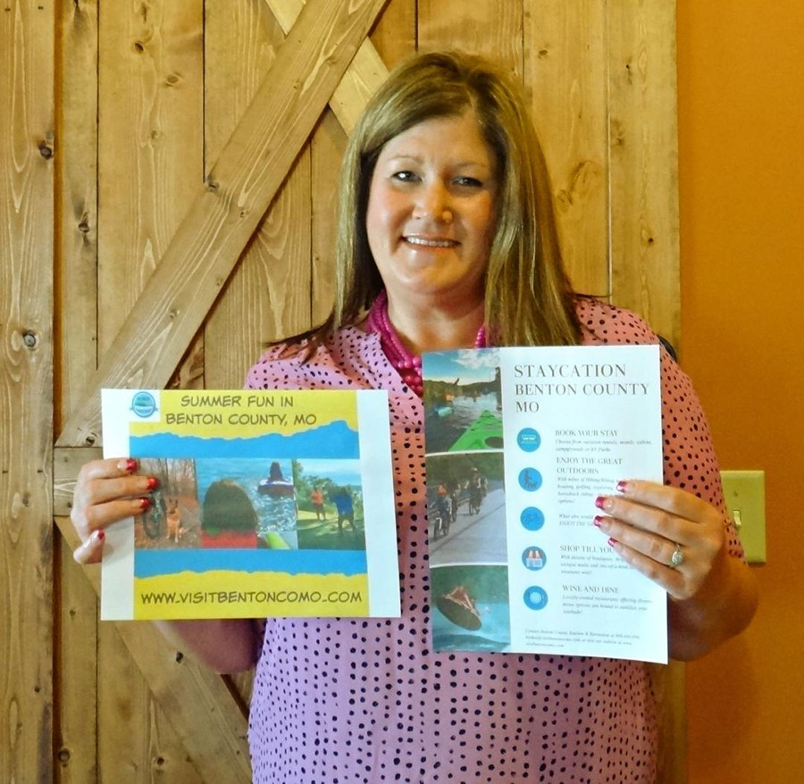 READY TO HELP the economy rebound, Benton County Tourism Director Lynette Stokes has formulated a marketing plan to draw tourists back to the twin-lakes area after officials deem it safe to do so.