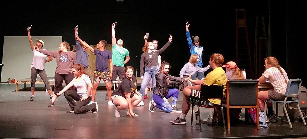 BE MORE CHILL is just one of several live theatre performances available at  Stauffacher Theatre on the SFCC campus. WHS graduate Gabriella Flores, who currently attends SFCC, told the Enterprise she enjoys the chance to see live entertainment right on campus.