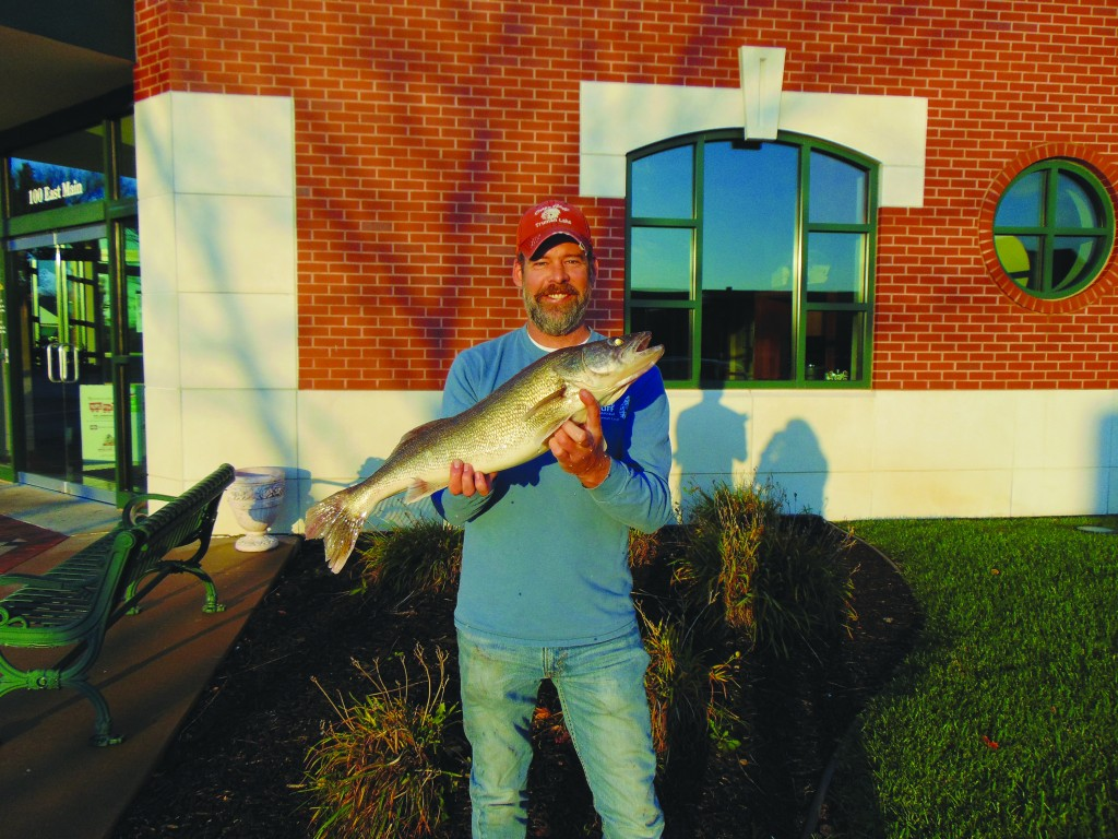 A MONSTER OF A WALLEYE was brought in by Jason Reynolds, breaking a state record. Reynolds brought in the fish using a jug line on Truman Lake.