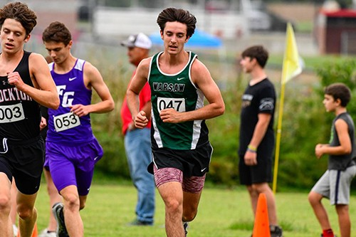 WARSAW'S GEORGE MONTEZ had another strong finish at Stockton last week when he turned in a time of 19:14, good for another medal with an 11th place finish.  The sophomore was a state qualifier last year and is on pace to make that pack again in 2020.