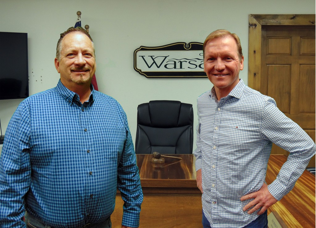 OFFERING THEIR OWN VISION OF THE FUTURE,  former Warsaw Alderman Kevin Dockery and Warsaw Mayor Eddie Simons will give voters a choice in April's mayoral election.